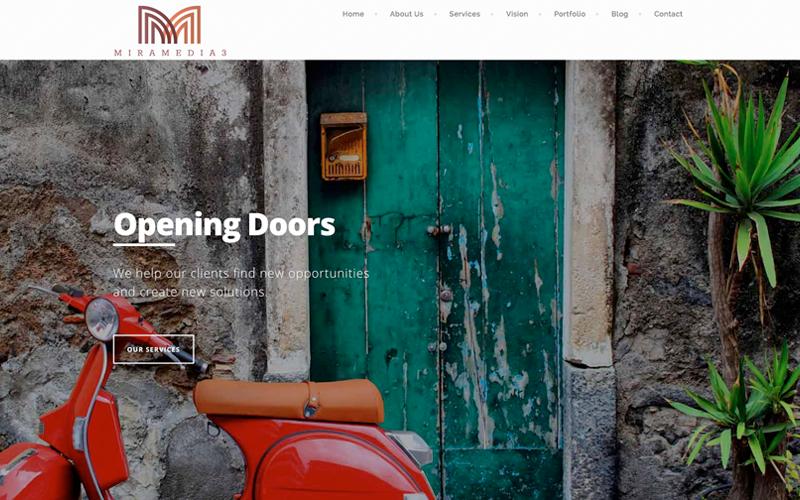 delafield web design, and delafield web development for the miramedia3 website