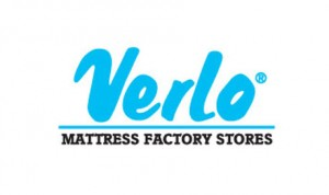 Verlo Mattress factory stores logo