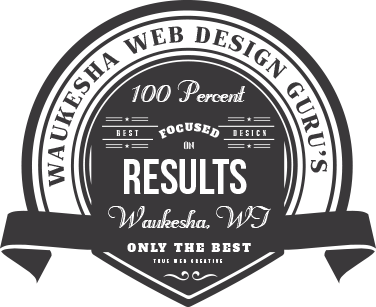 waukesha web design and waukesha web development 100 percent info graphic