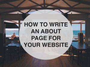 How to write an about us page for your website