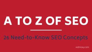 A to Z of SEO -- RedMoxy Communications
